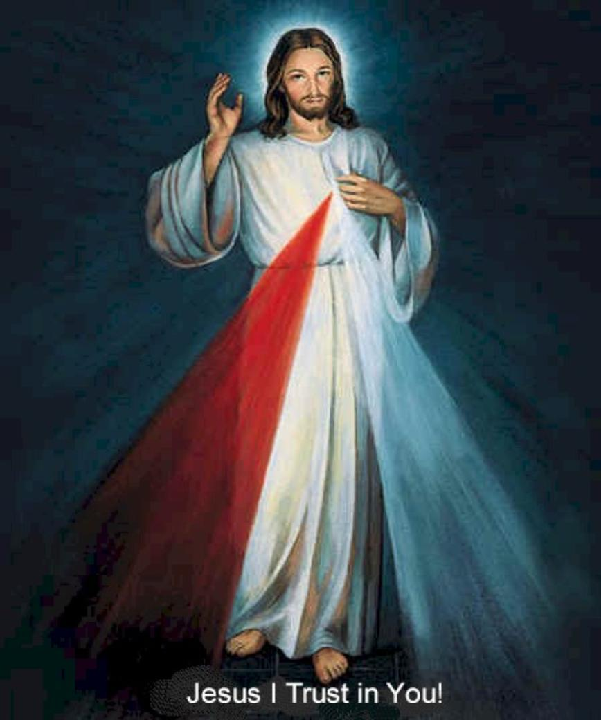 Image of Divine Mercy as shown to Saint Faustina